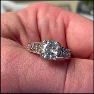 Jewelry - 1.80 Ct VVS1 DEF Brilliant White Moissanite Ring